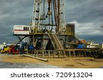 drilling well platform and... | Shutterstock . vector #720913204