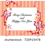 merry christmas and happy new... | Shutterstock .eps vector #720915478