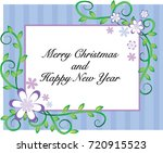 merry christmas and happy new... | Shutterstock .eps vector #720915523