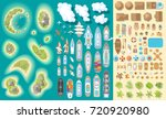 vector set. summer vacation.... | Shutterstock .eps vector #720920980