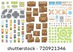 set of landscape elements....   Shutterstock .eps vector #720921346