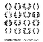 elegant hand drawn floral... | Shutterstock .eps vector #720924664