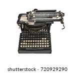old typewriter isolated on a... | Shutterstock . vector #720929290