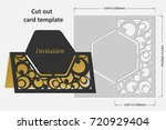 template cards to cut. topper.... | Shutterstock .eps vector #720929404