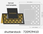 template cards to cut. topper.... | Shutterstock .eps vector #720929410