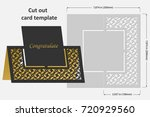 template cards to cut. topper.... | Shutterstock .eps vector #720929560