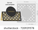 template cards to cut. topper.... | Shutterstock .eps vector #720929578