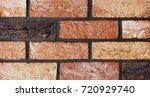 texture of natural brick.... | Shutterstock . vector #720929740
