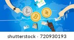 crypto currency bitcoin... | Shutterstock .eps vector #720930193