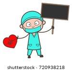 cartoon surgeon giving tips for ... | Shutterstock .eps vector #720938218