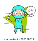 cartoon orthopedic showing a... | Shutterstock .eps vector #720938314