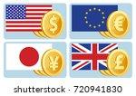 currency symbols  dollar  euro  ...   Shutterstock .eps vector #720941830