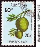 laos   circa 1989  a stamp... | Shutterstock . vector #720942148