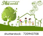 environmentally friendly world... | Shutterstock .eps vector #720943708