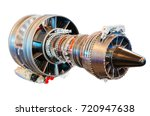 jet engine helicopter  turbine... | Shutterstock . vector #720947638