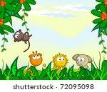 vector cartoon background.... | Shutterstock .eps vector #72095098