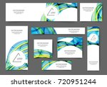 set of web banner templates...   Shutterstock .eps vector #720951244