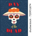 day of the dead. dia de los... | Shutterstock .eps vector #720951874