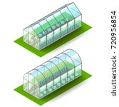 isometric greenhouse isolated... | Shutterstock .eps vector #720956854
