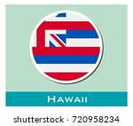 hawaii flag icon | Shutterstock .eps vector #720958234