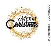 merry christmas  xmas badge... | Shutterstock .eps vector #720958270