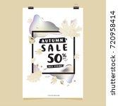 vector autumn sale poster... | Shutterstock .eps vector #720958414
