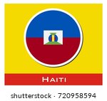 haiti flag icon | Shutterstock .eps vector #720958594