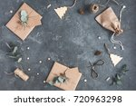 christmas composition.... | Shutterstock . vector #720963298