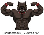angry dog mascot cartoon.... | Shutterstock .eps vector #720965764