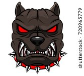 Angry Dog Mascot Cartoon.