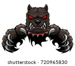 angry dog mascot cartoon.... | Shutterstock .eps vector #720965830