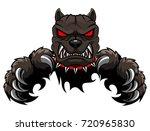 angry dog mascot cartoon.... | Shutterstock .eps vector #720965830