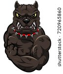 angry dog mascot cartoon.... | Shutterstock .eps vector #720965860