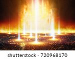 dramatic apocalyptic background ... | Shutterstock . vector #720968170