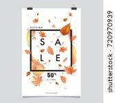 vector autumn sale poster... | Shutterstock .eps vector #720970939
