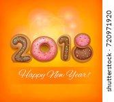 2018 new year invitation card... | Shutterstock .eps vector #720971920