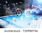 iot  automation  industry 4.0.... | Shutterstock . vector #720980746