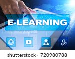e learning on the virtual... | Shutterstock . vector #720980788