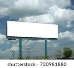 blank billboard for...   Shutterstock . vector #720981880