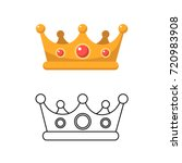 crown icon. isolate object.... | Shutterstock .eps vector #720983908