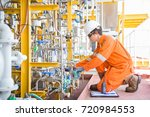 offshore oil and gas business ... | Shutterstock . vector #720984553