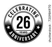 26 years anniversary logo.... | Shutterstock .eps vector #720984970