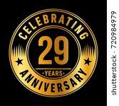 29 years anniversary logo.... | Shutterstock .eps vector #720984979