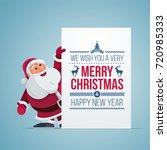 vector illustration of santa... | Shutterstock .eps vector #720985333