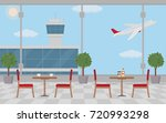 background of hall at airport...   Shutterstock .eps vector #720993298