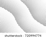 abstract halftone wave dotted... | Shutterstock .eps vector #720994774