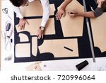 high angle view of concentrated ...   Shutterstock . vector #720996064