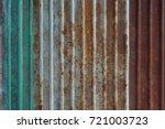 old rusty zinc wall  rusty zinc ... | Shutterstock . vector #721003723