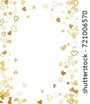 flying hearts frame vector gold ... | Shutterstock .eps vector #721006570