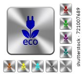 eco energy engraved icons on...   Shutterstock .eps vector #721007689